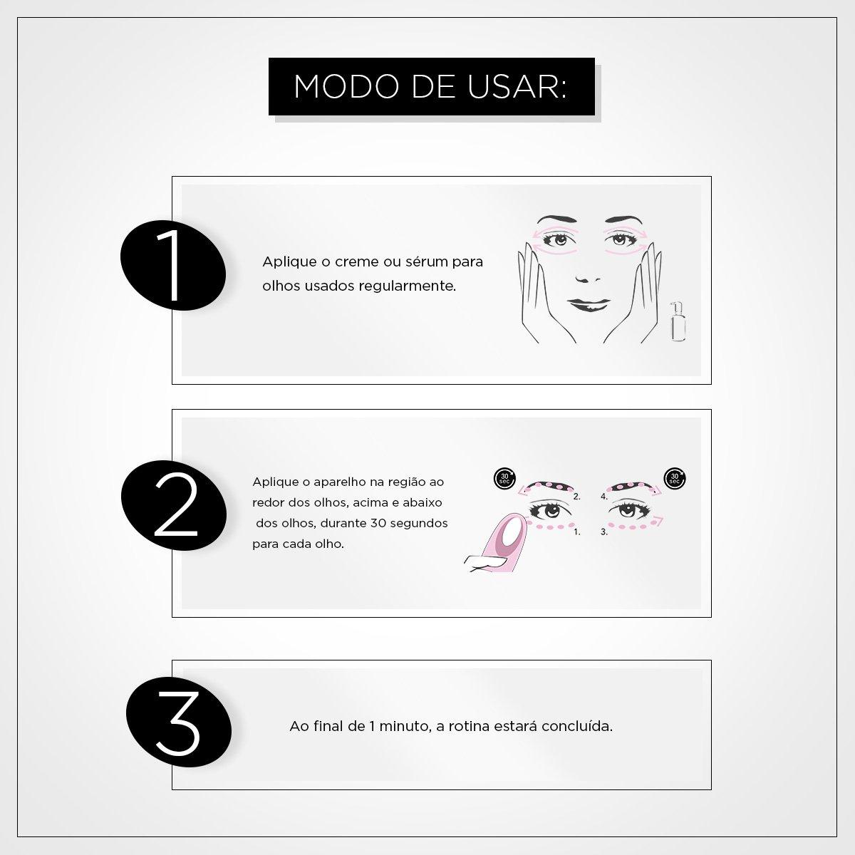 Massageador para os Olhos Foreo Iris Eye Massager Magenta - 3