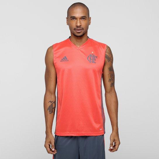 8ee96986e3 Camiseta Regata Flamengo Adidas Treino Masculina - Vermelho Claro+Chumbo