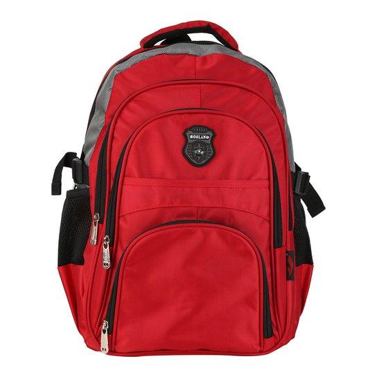 Mochila Boslang Bicolor - Vermelho+Chumbo 96f415e20c2