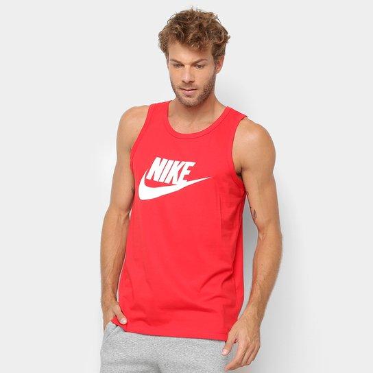 Regata Nike Taicon Futura Masculina - Vermelho Escuro e Branco ... 91b09bc132b