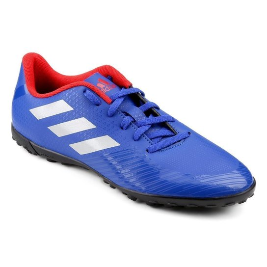 8959c9d9570a8 Chuteira Society Adidas Artilheira III TF - Azul e Prata | Netshoes