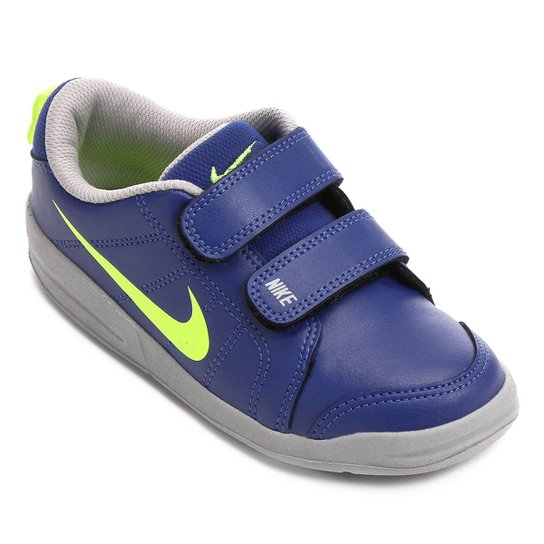 f7b73b64a068b Tênis Infantil Nike Pico Lt - Azul e Dourado - Compre Agora