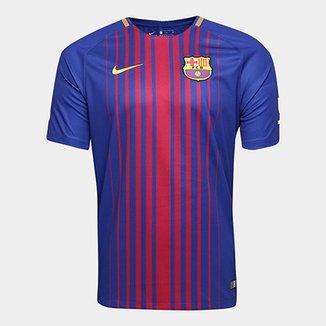 Camisa Barcelona Home 17 18 s nº Torcedor Nike Masculina 126631c20dc93