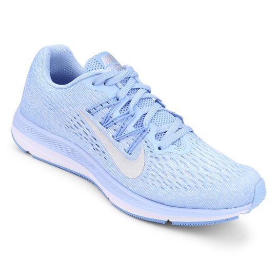 304fac4e06e Tênis Nike WMNS Zoom Winflo 5 Feminino - Azul e Prata - Compre Agora ...
