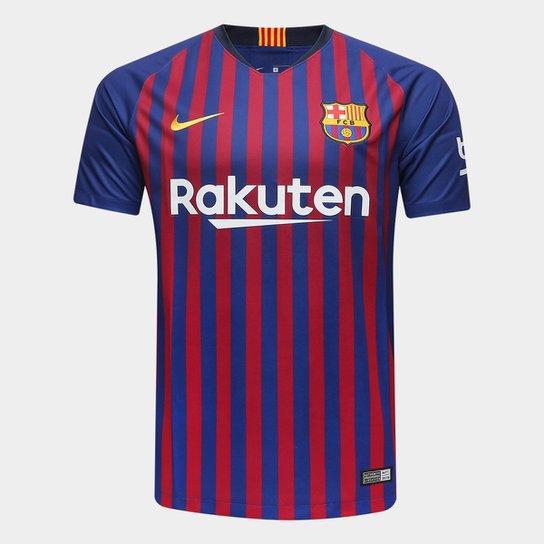 64a64d236c Camisa Barcelona Home 2018 s n° Torcedor Nike Masculina - Azul e ...
