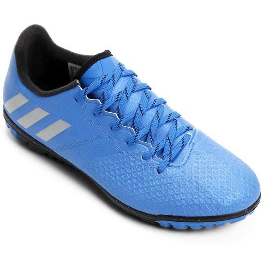 f660e79bc5 Chuteira Society Adidas Messi 16.3 TF Masculina - Azul e Prata ...