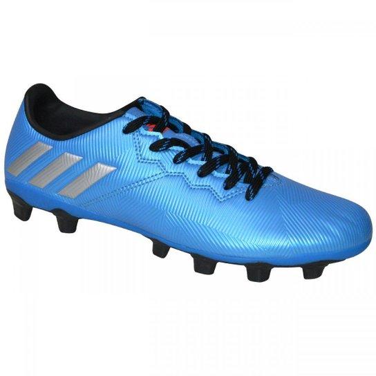 ea63d1d0ac Chuteira Campo Adidas Messi 16.4 FXG Masculina - Azul Turquesa e ...