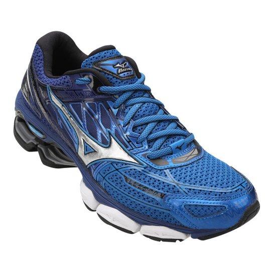 Tênis Mizuno Wave Creation 19 Masculino - Azul e Prata - Compre ... efe24a2a80270