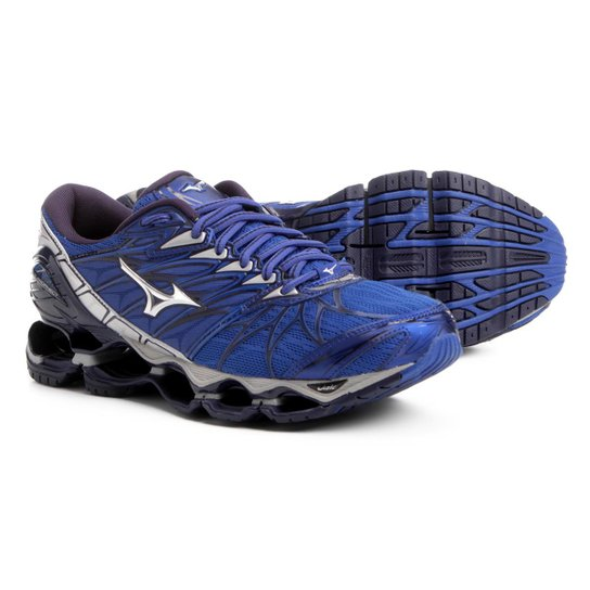 6da514f4016d4 Tênis Mizuno Wave Prophecy 7 Masculino - Azul e Prata - Compre Agora ...