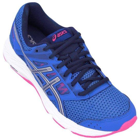 Tênis Asics Gel-Contend 5 Feminino - Azul e Rosa - Compre Agora ... 00781faee00d3
