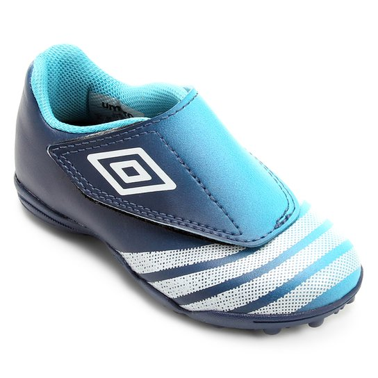 Chuteira Society Infantil Umbro Dual - Azul Claro+Azul 1118ec763171d