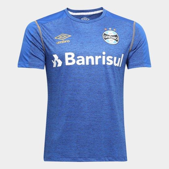 Camisa do Grêmio 2019 Aquecimento Umbro Masculina - Azul e Dourado ... 49da6556f330b