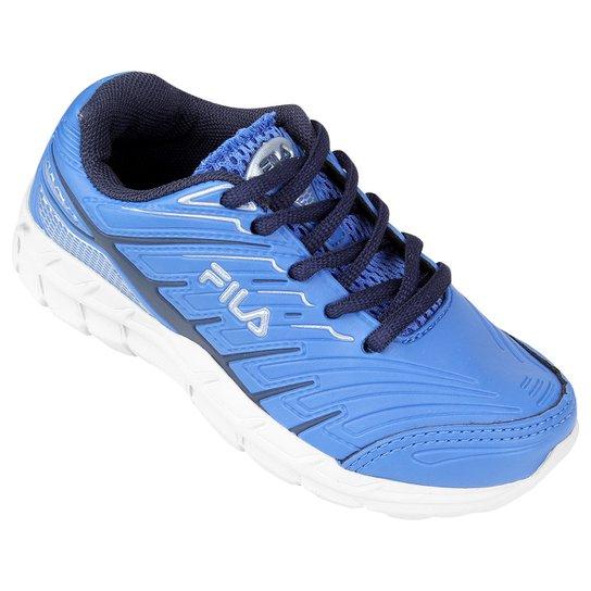 57fa313902a Tênis Fila Axis Infantil - Azul Claro e Branco - Compre Agora