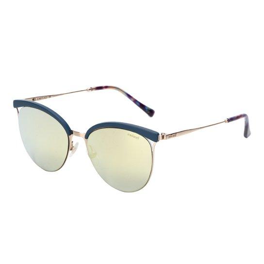 6aa3d5b41 Óculos de Sol Colcci C0073 Feminino - Azul e Dourado   Netshoes