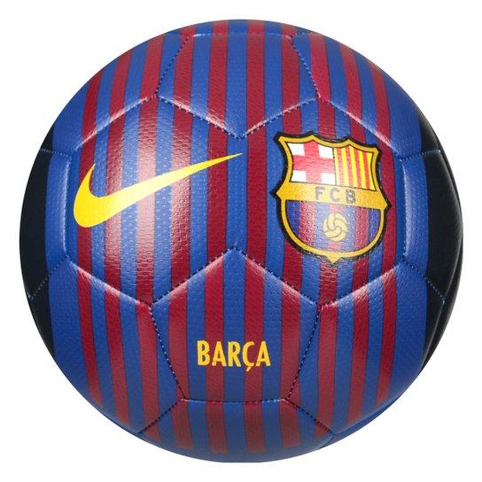 Bola de Futebol Campo Barcelona Nike Prestige - Azul e Dourado ... 9132d8ca8080c