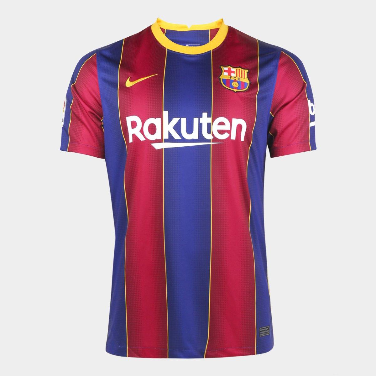 Camisa Barcelona Home 20/21 s/n° Torcedor Nike Masculina