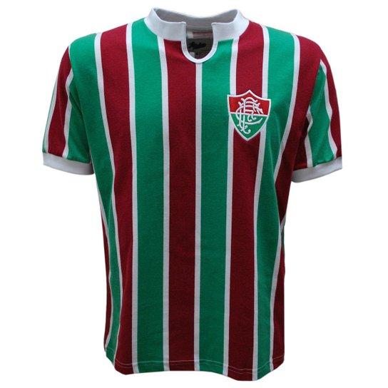 8f6ad09729 Camisa Liga Retrô Fluminense 1976 - Vermelho e Verde - Compre Agora ...