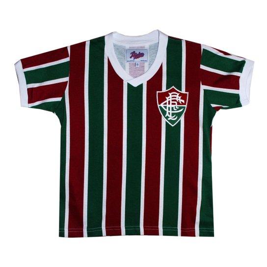 beabe6aba1 Camisa Liga Retrô Fluminense Mundial 1952 Infantil - Vermelho e ...