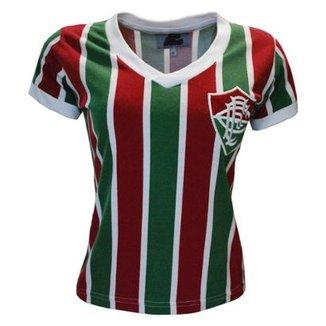 Camisa Liga Retrô Fluminense Mundial 1952 Feminino d6075e29e3ac9