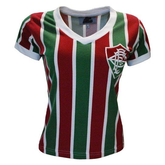 3635faeac7 Camisa Liga Retrô Fluminense Mundial 1952 Feminino - Vermelho e ...