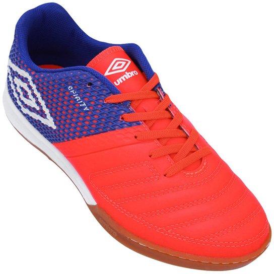 b35d2ad3d5 Chuteira Umbro Futsal Spirity - Laranja e Azul