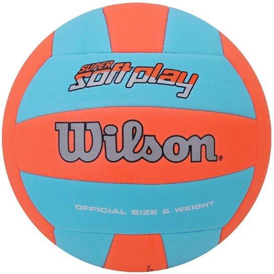 f5b04262e Bola Wilson de Vôlei Super Soft Play - Laranja+Azul