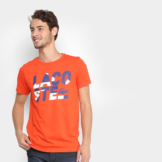 38762bac489 Camiseta Lacoste Estampada Masculina - Compre Agora