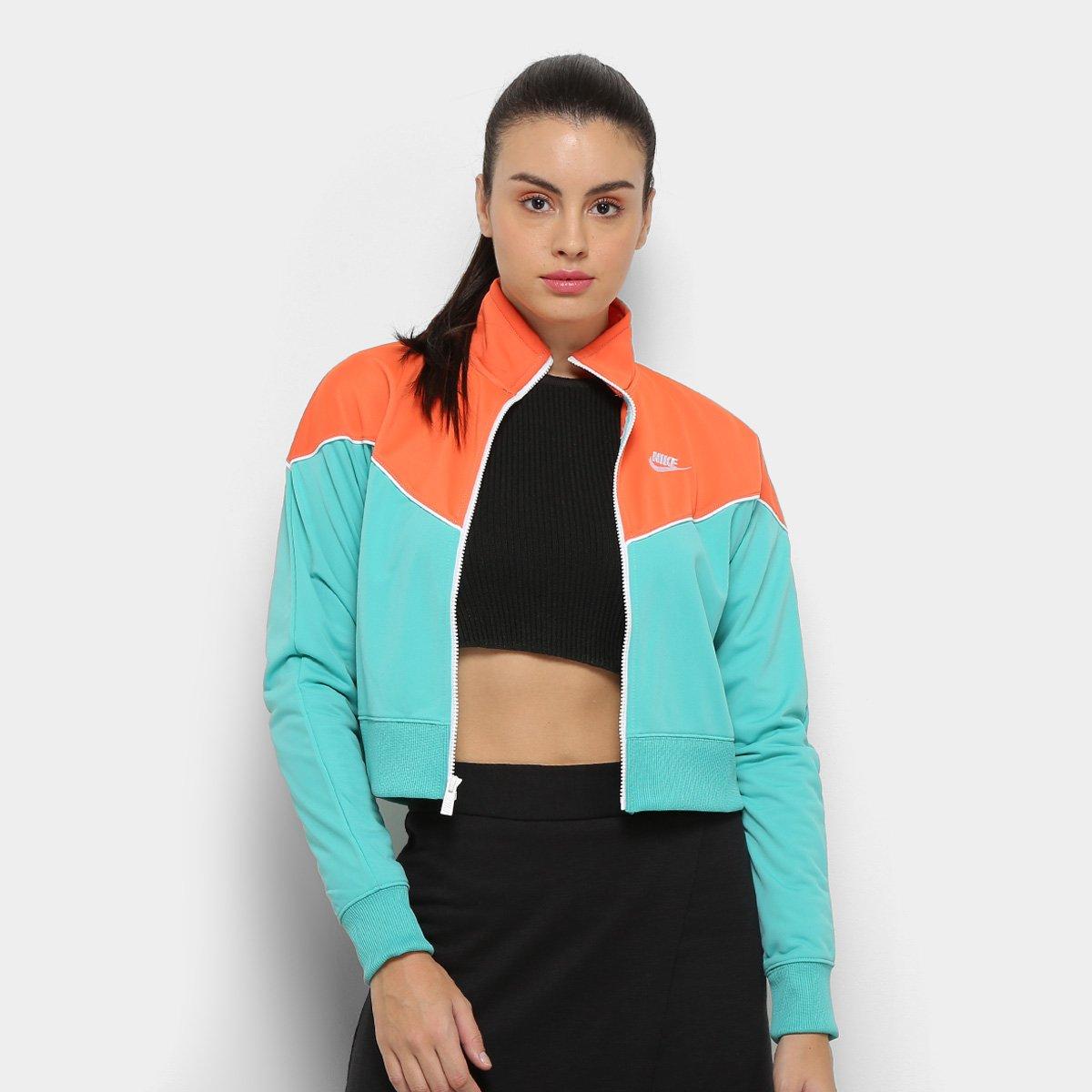 Foto 1 - Jaqueta Nike Sportwear Heritage Track Feminina