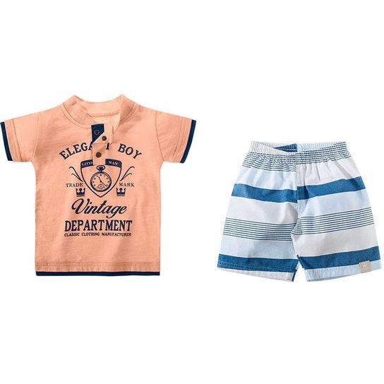 82b89ebe9f4c6 Conjunto Listrado Infantil Masculino Colorittá - Compre Agora