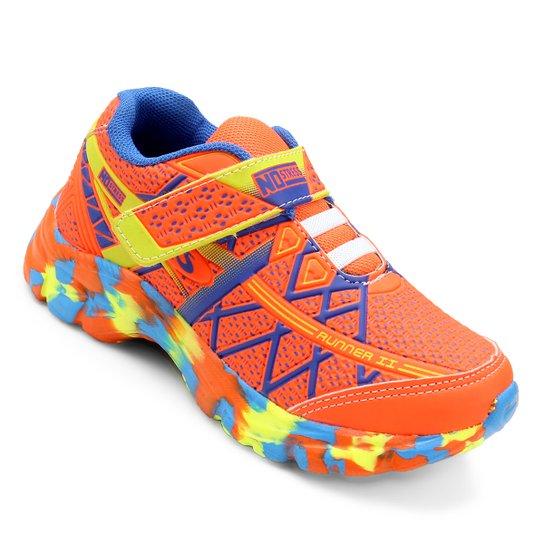 ab5a8f86da1 Tênis Infantil No Stress Running Masculino - Laranja e Azul - Compre ...