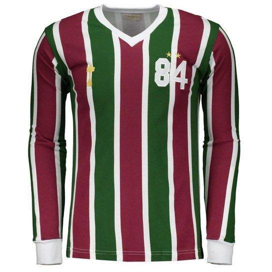 Camisa Fluminense 1984 Masculina - Vermelho+Verde af0a78cfd0948