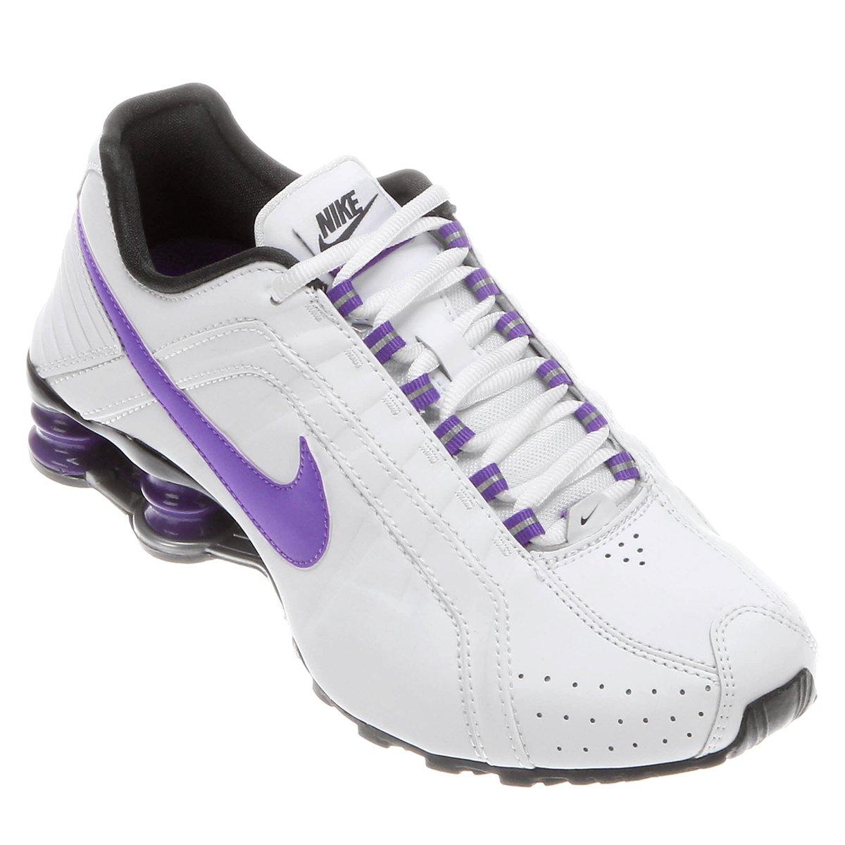 big sale 429bc 6804b Tênis Nike Shox Junior - Branco .