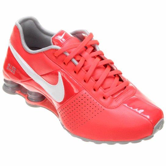 00b85e29f31 Tênis Nike Shox Deliver - Laranja Escuro+Branco