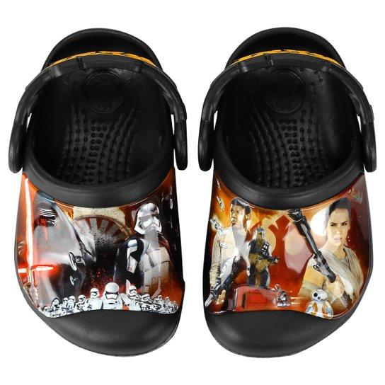 d330cb821aff6 Sandália Crocs CC Star Wars Clog Infantil - Preto e Vermelho ...
