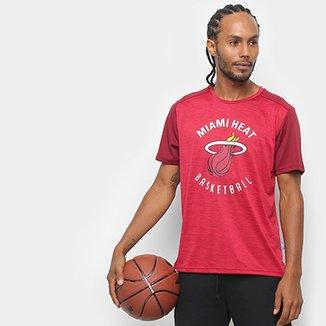 0eabbc9f1264b Camiseta NBA Miami Fio Tinto Mesh 17 Masculina