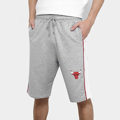 Bermuda Moletom NBA Chicago Bulls Friso Masculina