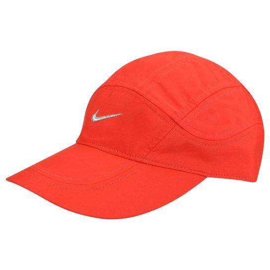 Boné Nike Aba Curva Dri-Fit Spiros - Laranja+Branco 2103b047f63