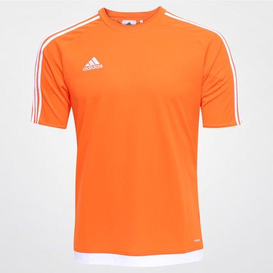 Camisa Adidas Estro 15 Masculina - Laranja e Branco - Compre Agora ... bb9cf8cdb65af