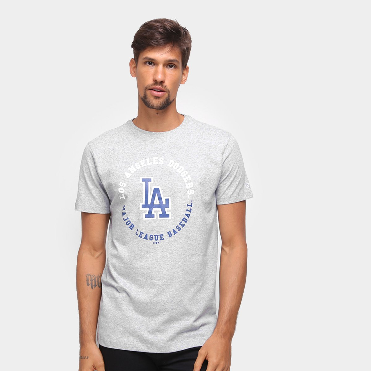 Camiseta MLB Los Angeles Dodgers New Era College Baseball Masculina