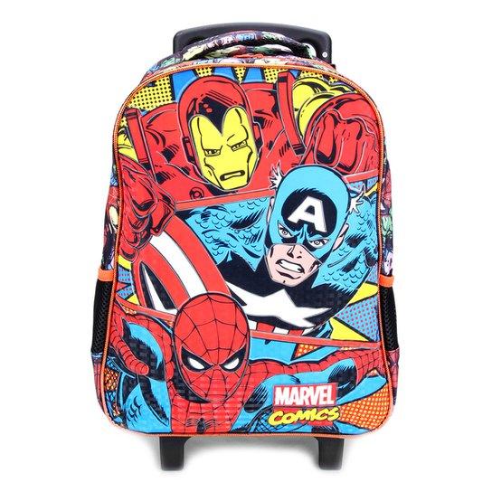 ad10406465b Mochila de Rodinhas Infantil Escolar Xeryus Marvel Comics Trio - Colorido