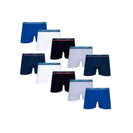 92d379423 Kit Cuecas Boxer Lupo c  10 unidades - Colorido