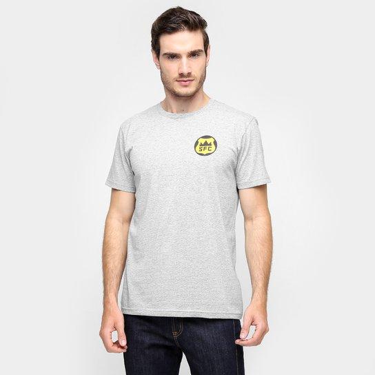 Camiseta Santos - O Reino do Futebol Masculina - Mescla - Compre ... a8a98dbda54