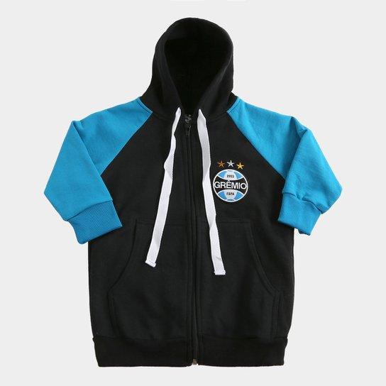 Moletom Infantil Grêmio C  Capuz - Marinho e Azul - Compre Agora ... 8901515d3117d