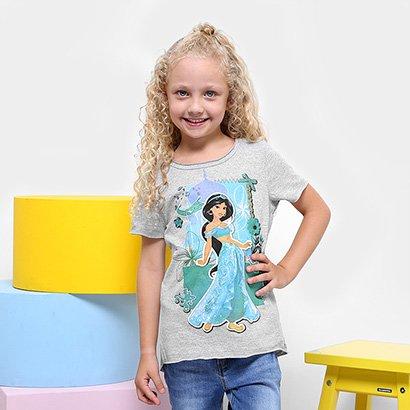 Camiseta Infantil Disney Jasmine Feminina