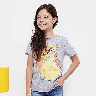 Camiseta Infantil Disney Bela Feminina
