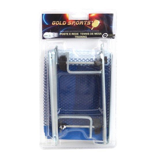 d4eb85c72 Kit Para Tenis De Mesa Gold Sports - Training Com Rede E Suporte - Azul
