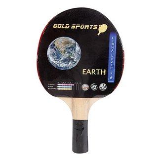 Raquete Tenis De Mesa Gold Sports Earth 62fc4a22d94f2