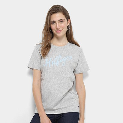 Camiseta Tommy Hilfiger Feminino Viola Feminino