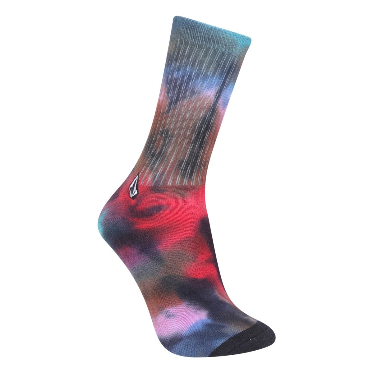 Meia Cano Alto Volcom Nangnar Tie Dye Masculina