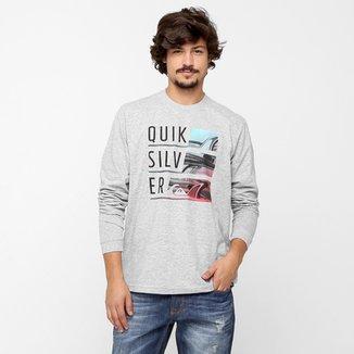 f484e044280be Camiseta Quiksilver Básica Word Up M L